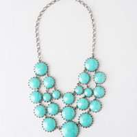 CLEAR LAKE JEWELED STATEMENT NECKLACE