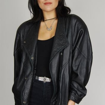 D'Linea Collection Buttery Soft Bomber Leather Jacket