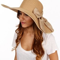 Natural Bow Floppy Hat