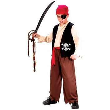 Boy's Costume: Playful Pirate