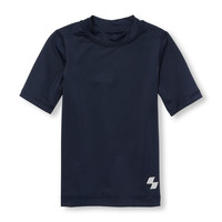 Boys PLACE Sport Short Sleeve Solid Rashguard | The Children's Place