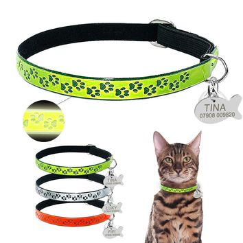 Safety Florescence Personalized Cat Collars