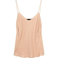 The Row Biggins silk-georgette camisole