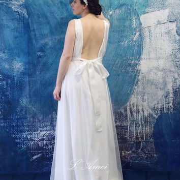 Shop cotton lace wedding dress on wanelo for Simple cotton wedding dress