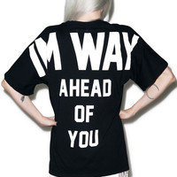 UNIF Ahead Of You Tee Black