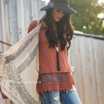 Grace & Lace Long Sleeve Top Extender™ in Rust