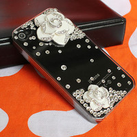Diamond iphone 4 cases, transparent  iphone cases 4 4s,  crystal  iphone 4 cover,bling iphone 4 cases