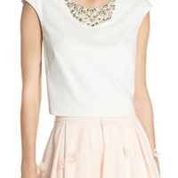 Eliza J Embellished Crop Top | Nordstrom