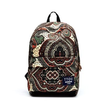 Paisley Black Backpack