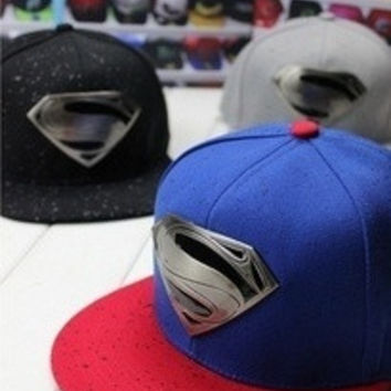New Fashion Hot Sell Hero Superman Flat Brimmed Hat Men&Women's Hip-hop Hat = 1946322244