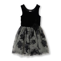 Sleeveless Velour Bodice Floral Tutu Dress | The Children's Place