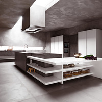 Fitted kitchen without handles ELLE by CESAR ARREDAMENTI | design Gian Vittorio Plazzogna