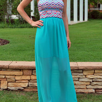 Afternoon Breeze Maxi Dress - Mint