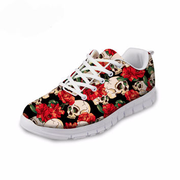 Skull Print Breathable Sneakers For Women FREE SHIPPING!!!