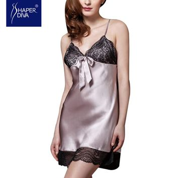 Baby doll Nightdress Silk Nightwear Dress
