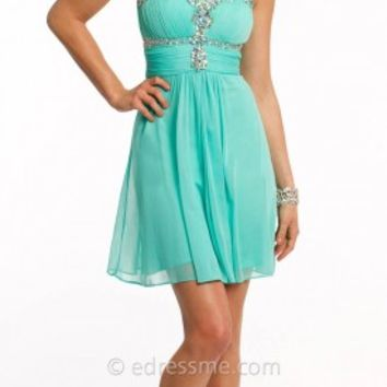 Flowy Ethereal Short Prom Dress by Camille La Vie
