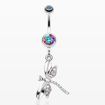 Dragonfly Wing Sparkle Belly Ring