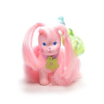 Silkypup Dog Toy Lady Lovely Locks Vintage Pink Puppy with Pixietails Hair Clip