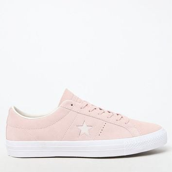 Converse One Star Premium Suede Low Top Pink and White Shoes at PacSun.com