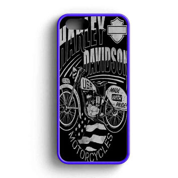Harley Davidson Usa Motorcycles Made With Pride iPhone 5 Case iP 3f31a8652b