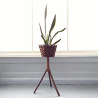 Vintage, Plant Stand, Wicker, Bent Wood, Wood, Boho, Interior, Exterior, Sunroom Decor, Living room Decor, RhymeswithDaughter