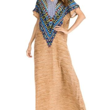 Casual Embroidered Maxi Dresses