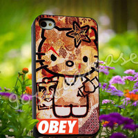 obey hello kitty - for iPhone 4/4s, iPhone 5/5s/5C, Samsung S3 i9300, Samsung S4 i9500 Hard Plastic Case