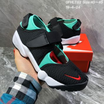 HCXX N1504 Nike mesh gaiters with split toes hipster sports sandals casual gym shoes black green