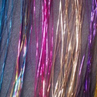"40"" Hair Tinsel 210 Strands Seven Colors (Sparkling Silver, Purple, Rainbow, Hot Pink, Gold, White Gold, Blue)"