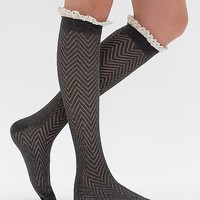 Women's Open Weave Socks in Grey by Daytrip.