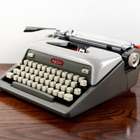 Royal Futura 800 Manual Typewriter -  Working Typewriter - Vintage Two-Tone Gray Typewriter - Excellent Condition