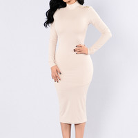 Details are Everything Dress - Taupe