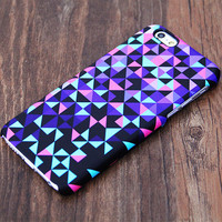 Violet Geometric Design iPhone 6 Case/Plus/5S/5C/5/4S Case #534
