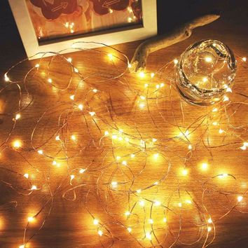 SVELTA 3M 30 leds Battery Operated Copper Wire LED Fairy String Lights For Christmas Holiday Wedding Party Gerlyanda For Decor