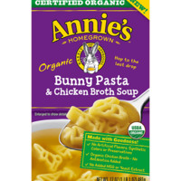 Organic Bunny Pasta and Chicken Broth Soup - 17 oz each