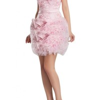 Angel Bride Party Dresses Organza Ball Gowns Homecoming Cocktail Dresses Short