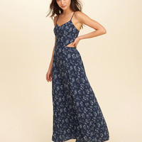 Girls Cutout Woven Maxi Dress | Girls New Arrivals | HollisterCo.com