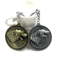 free shipping Game Of Thrones Key Chain Got Song Of Ice And Fire Baratheon Stark Arryn Tully Greyjoy Martel Keychain