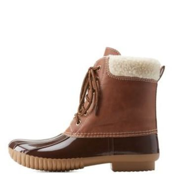 Adriana New York Shearling-Lined Duck Booties