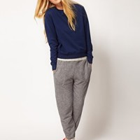ASOS Joggers in Speckled Sweat at asos.com