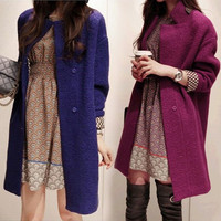 Women's Warm Wool Long Winter Parka Coat Trench Outwear Jacket Overcoat  F_F = 1904778564