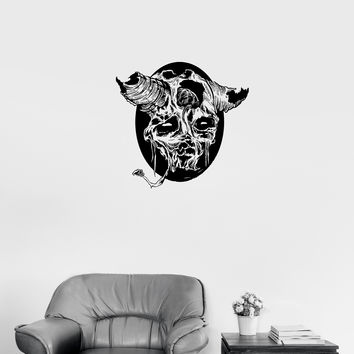 Wall Decal Skull Skeleton Monster Death Horror Animal Fear Corpse Vinyl Sticker Unique Gift (ed705)