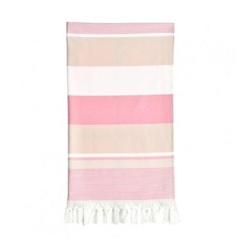 Summer Loving Pestemal Beach Towel - Pretty Pink