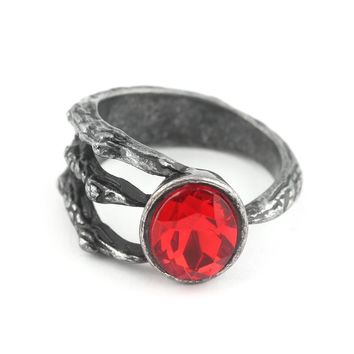 Newest Dark Souls 3 Fire Clutch Ring The Avengers 3 Thanos Jewelry Paw Red Crystal Cosplay Rings for Women Men Jewelry