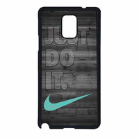 Nike Mint Just Do It Wooden Gray Samsung Galaxy Note 4 Case