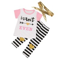 """""""I Can't Even"""" Arrow Letter Print Outfit"""