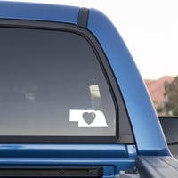 Nebraska Love Sticker for Cars and Trucks
