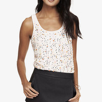 MULTICOLORED SEQUIN EMBELLISHED FRONT TANK from EXPRESS