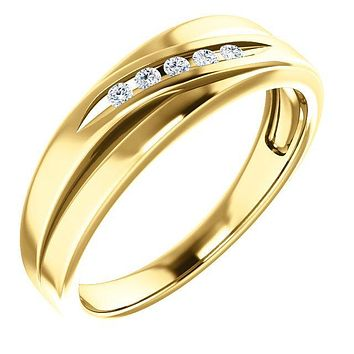 Matthew Round Diamond Tapered Round Slit Band
