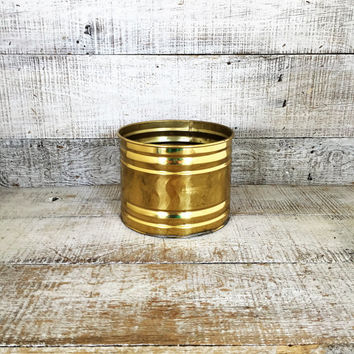 Brass Planter Vintage Brass Bowl Vintage Plant Pot Vintage Garden Container Brass Flower Pot Brass Outdoor Planter Mid Century Planter